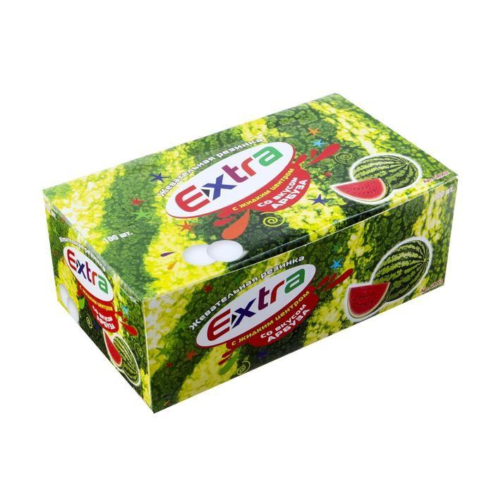 Жевательная резинка Extra со вкусом арбуза, 3.3 г Арт.: 4441159 Мин. заказ: 100 Вкус: Арбуз С жидким центром: Да