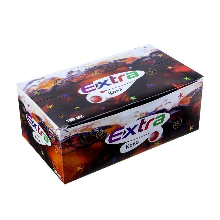 Жевательная резинка Extra со вкусом колы, 3.3 г Арт.: 4441161 Мин. заказ: 100 Вкус: Кола С жидким центром: Да