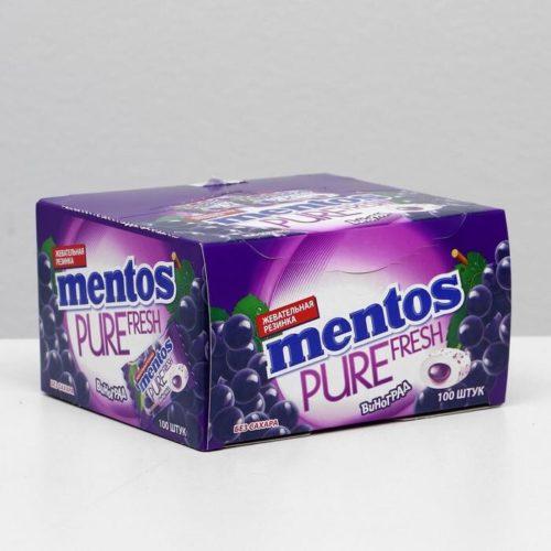 Жевательная резинка Mentos, виноград, 2 г Арт.: 5129798 Мин. заказ: 100 Вкус: Виноград С жидким центром: Да
