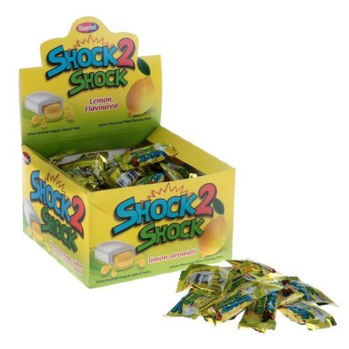 Жевательная резинка Shock 2 Shock Лимон, с жидким центром, 4 г Арт.: 4192050 Мин. заказ: 100 Вкус: Лимон С жидким центром: Да