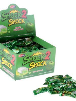 Жевательная резинка Shock 2 Shock Зелёное яблоко, с жидким центром, 4 г Арт.: 4192049 Мин. заказ: 100 Вкус: Яблоко С жидким центром: Да