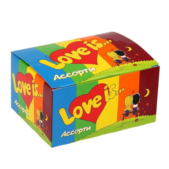Жевательная резинка Love is, микс, 4.2 г Арт.: 1367112 Мин. заказ: 100 Вкус: Ассорти С жидким центром: Нет Вкус, знакомый с детства