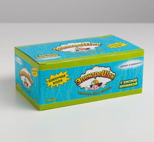 Жевательная резинка со вкусом Колы (Электрошок),3,5г, 100 шт