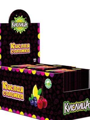 Кислица фруктово-ягодная соломка 60 шт