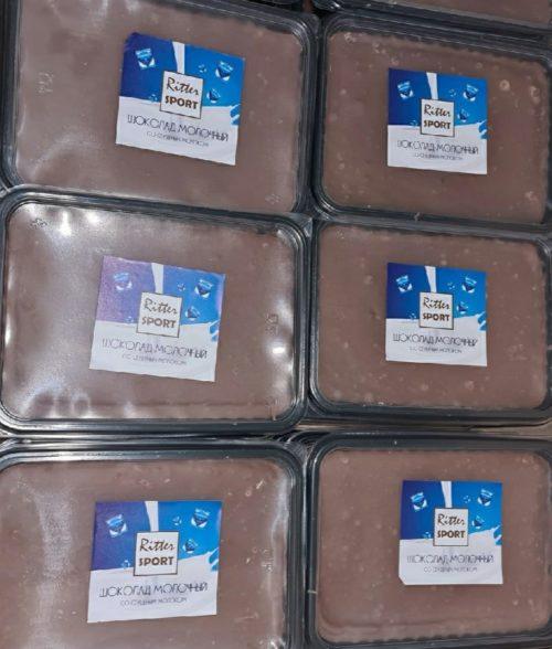 Ritter sport молочный со сгущенным молоком (аналог) 1 кг